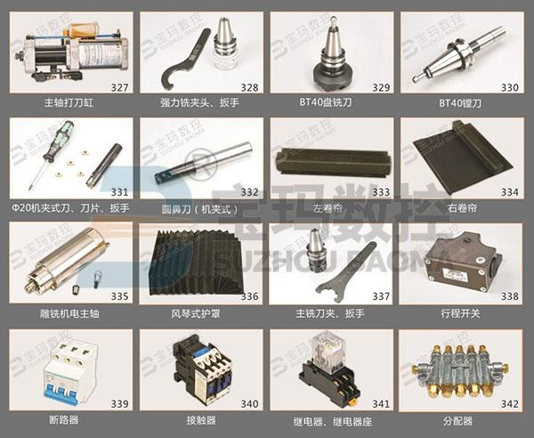 Spare Parts for CNC Milling Machines, Cutting Tools