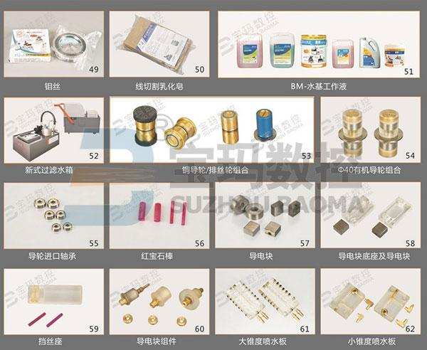 Mechanical Parts / Consumable Parts for EDM Wire Cut Machines